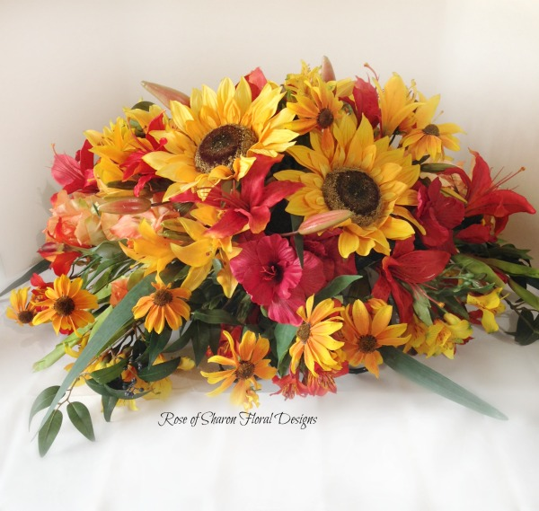 Sunflower casket spray (silk)