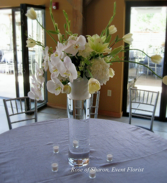 Centerpiece Tall Phalaenopsis & Tulip Vase_6890919766_m.jpg