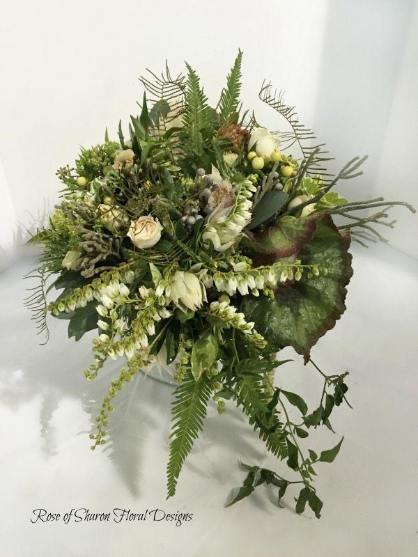 Textured Woodland Bouquet. Rose of Sharon Floral Designs