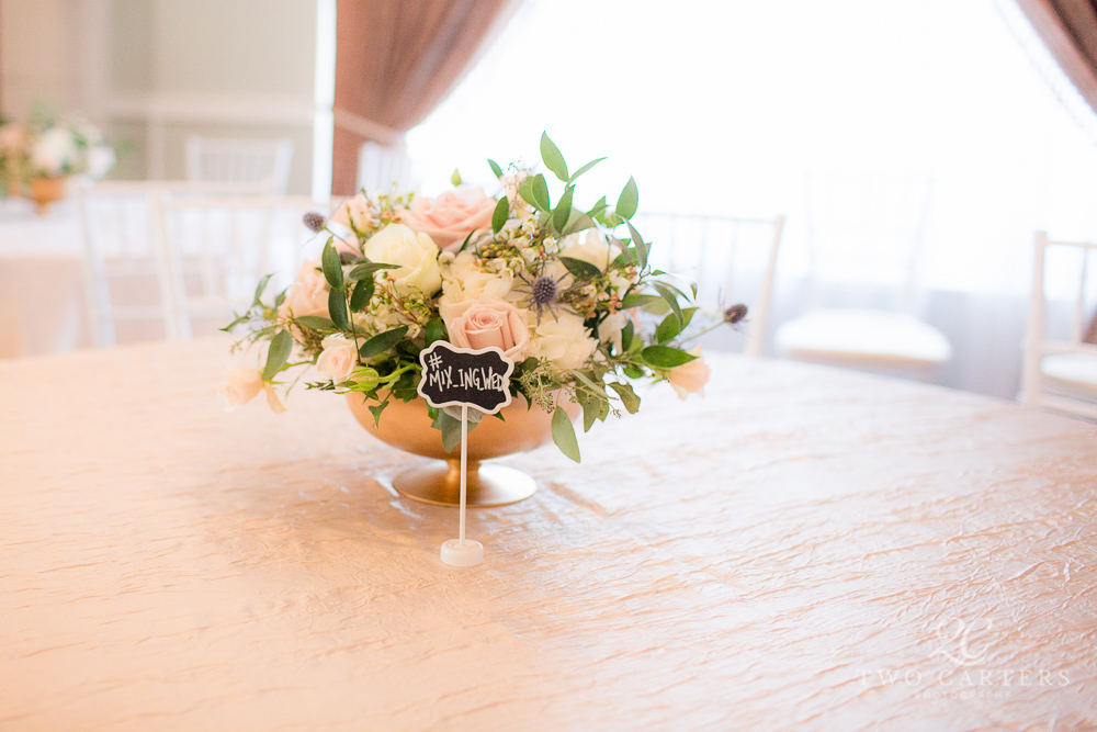 09. Organic blush garden rose centerpice. Compote Centerpiece. Inn at Carnall Hall. Two Carters Photography. Rose of Sharon Floral Designs..jpg