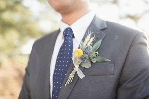 07 Eucalyptus wheat & billy ball boutonniere White yellow & blue Mallory Berry Photography Rose of Sharon Floral Designs Stone Chapel at Matt Lane Farms.jpg
