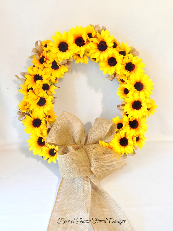 Sunflower & Burlap Wreath