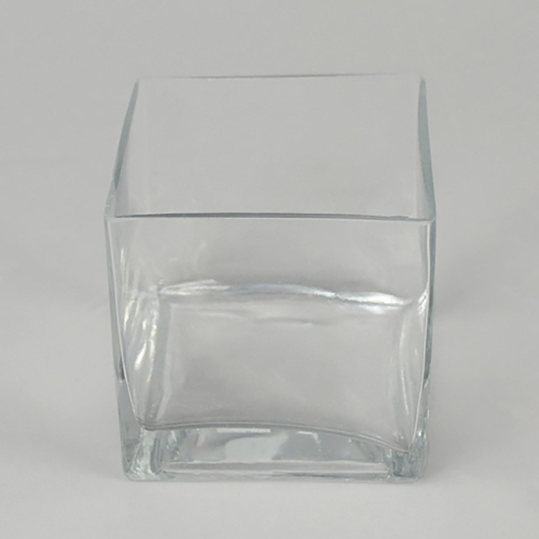 "4"" & 4"" glass cube"