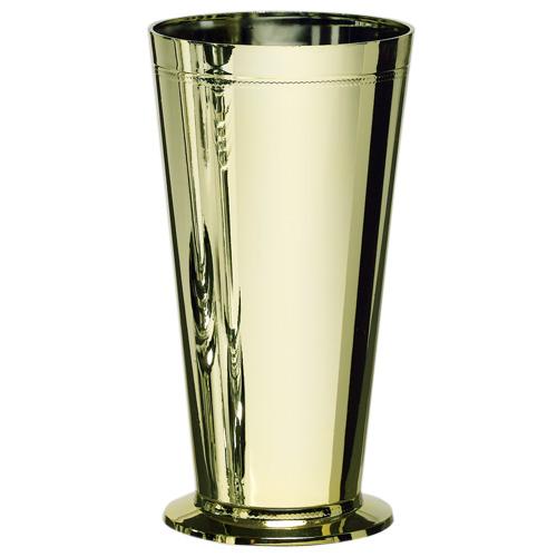 """7.5"""" gold mercury trumpet vase"""