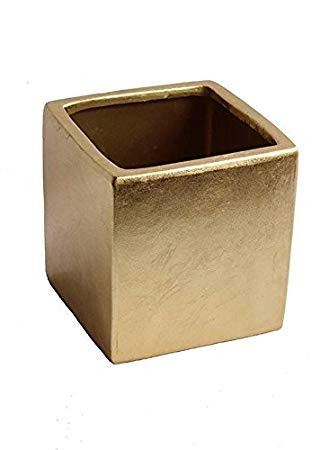 "6""x6"" gold cube"