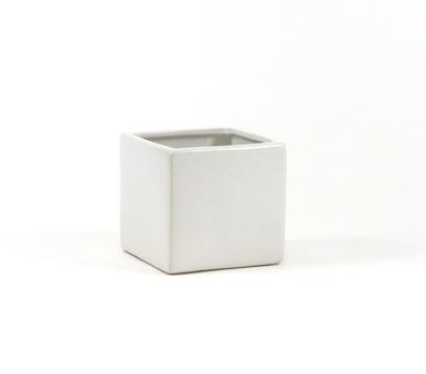 """5""""x5"""" white ceramic cube"""