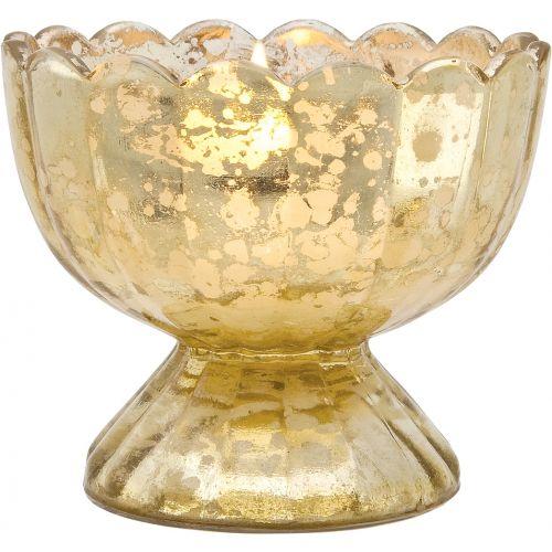 Gold Mercury Tea Light Holder