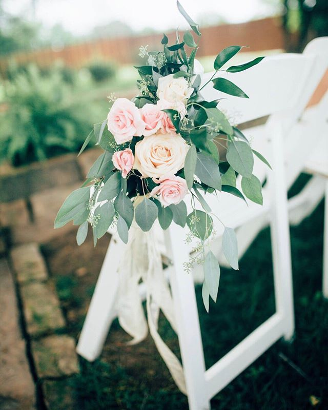 Ben Lately Photos-aisle flowers. Blush Roses