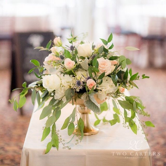 Two Carters Photography - blush compote centerpiece