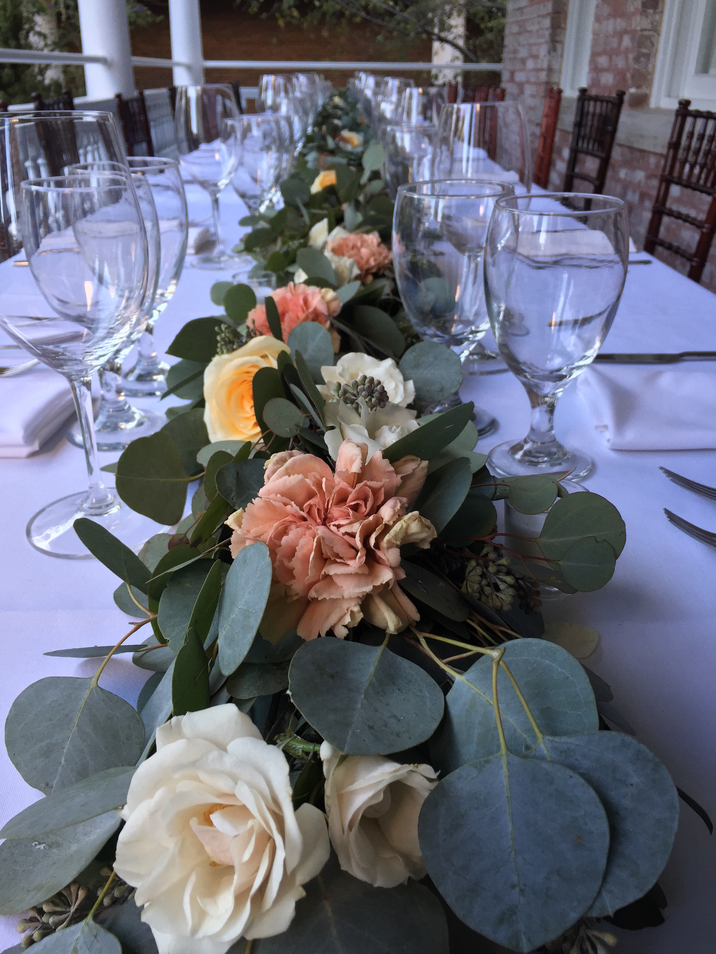 Eucalyptus garland with roses