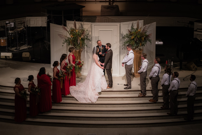 Fall Wedding at Pratt Place Organic Ceremony Arrangements, Rose of Sharon Floral Designs, Fayetteville, AR