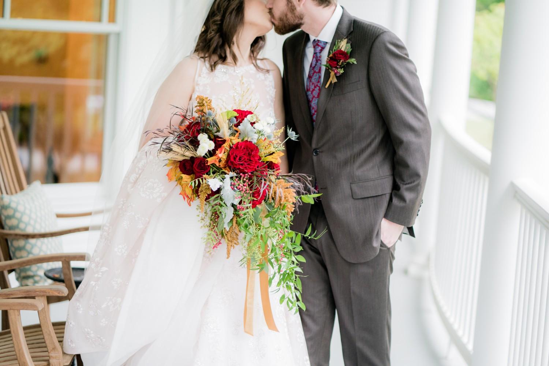 Fall Wedding at Pratt Place Organic Bridal Bouquet, Rose of Sharon Floral Designs, Fayetteville, AR