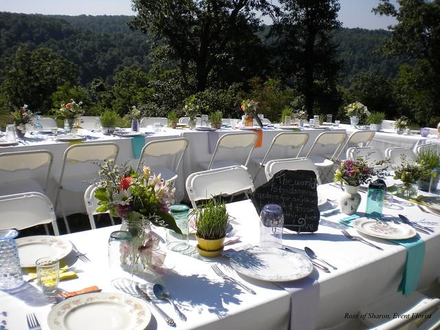 Mountain Top Wedding Reception