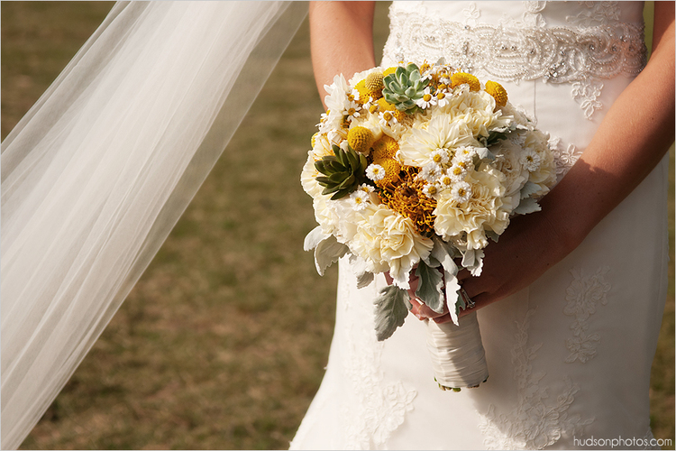 Yellow Spring Wedding Bouquet at Pratt Place, Rose of Sharon Floral Designs, Fayetteville, AR