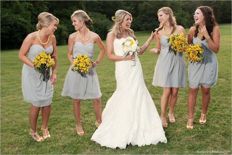 Yellow Spring Wedding Bouquets at Pratt Place, Rose of Sharon Floral Designs, Fayetteville, AR