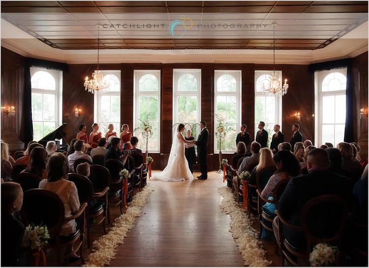 Spring Wedding at the Crescent Hotel Petal Aisle, Rose of Sharon Floral Designs, Fayetteville, AR