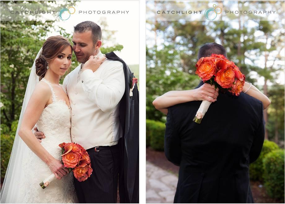 Spring Wedding at the Crescent Hotel Orange Bouquet, Rose of Sharon Floral Designs, Fayetteville, AR