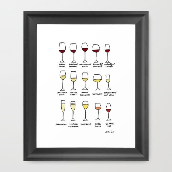 wine - emi ito illustration