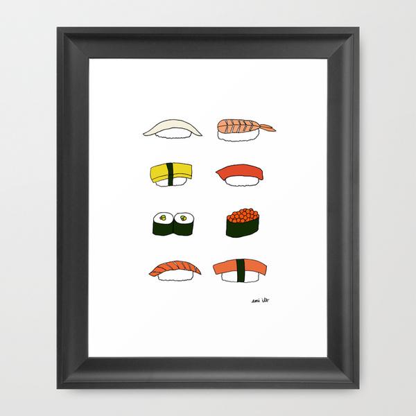 sushi - emi ito illustration