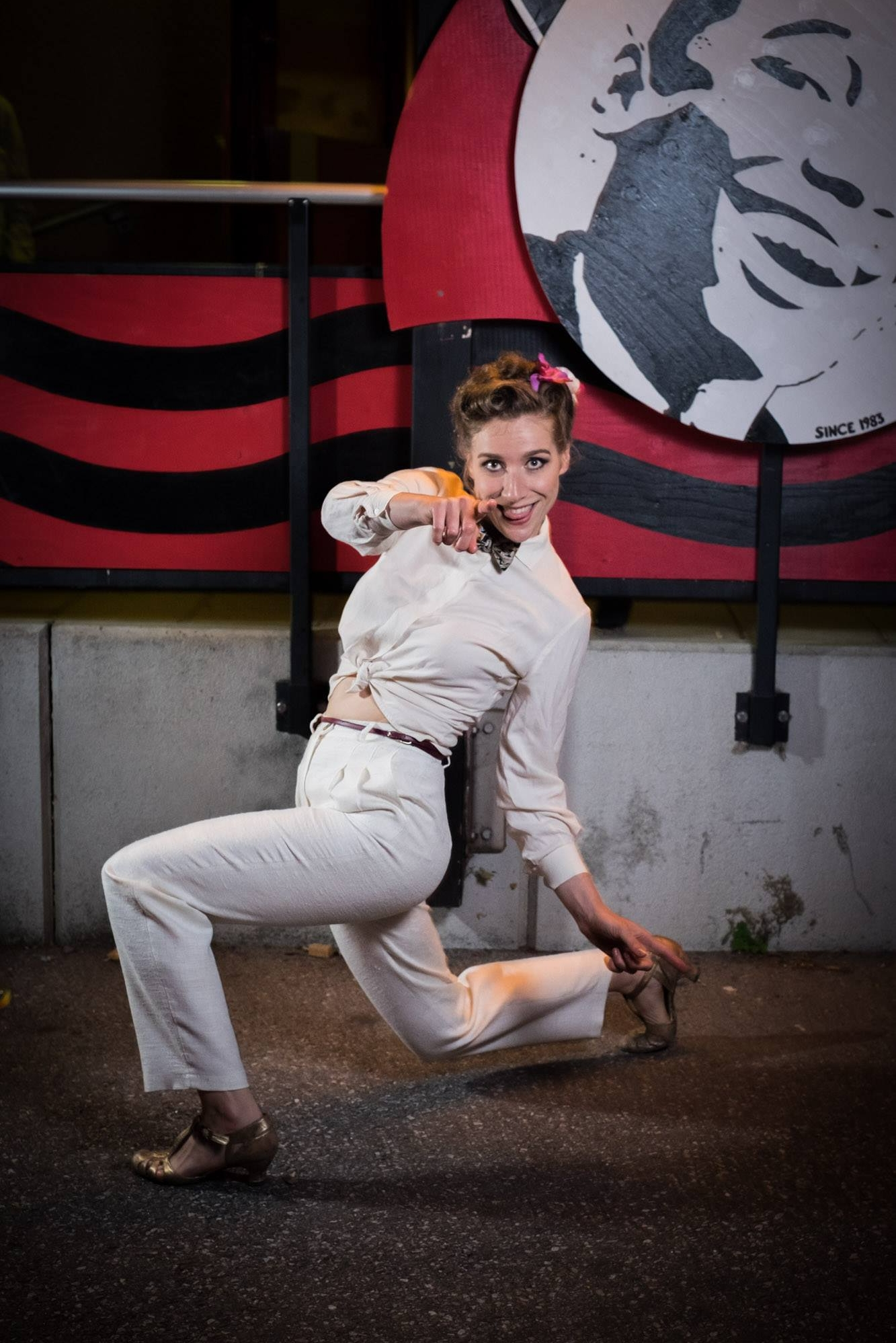 Make-up by Egle Regelskis, hair by Elvira Am Andersson, pants by  Comely Bop   Picture by  HERRANG Dance Camp