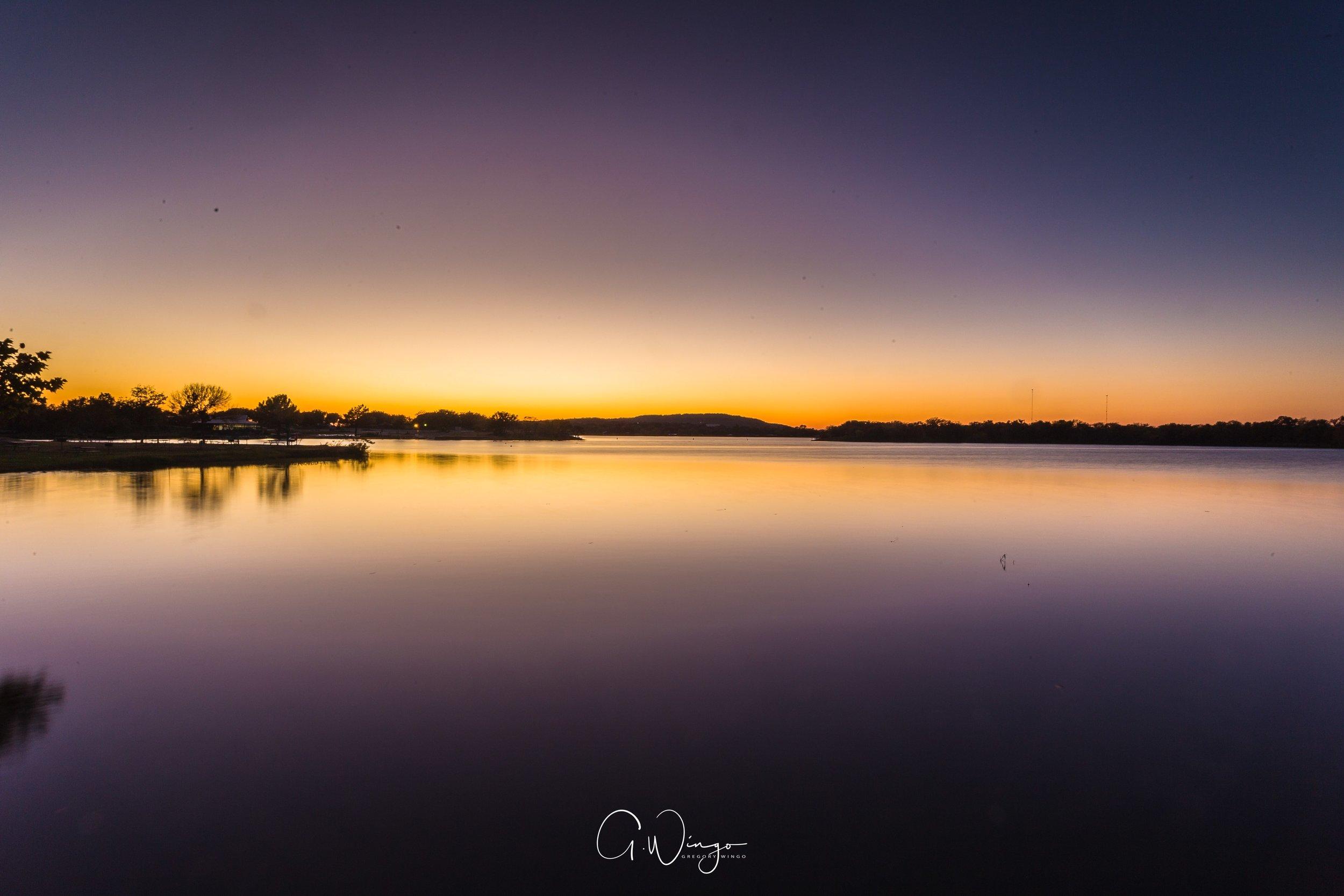Sunset at Inks Lake in Burnet, TX. Excuse my sensor dust.  December 1, 2017.