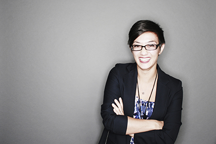 Tech Focused Event Professional - Looking sharp and creative. She's the kind of person that would bring fun to the job.