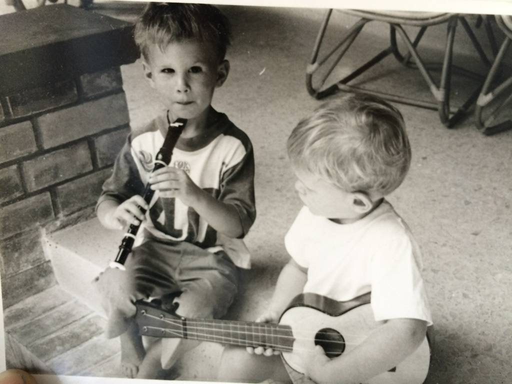 Kenny Wolleson, drums and percussion and things, as a child. A natural phenomenon all his own.