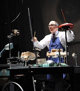 Steven Schick in performance (image courtesy of the Paul Dresher Ensemble)