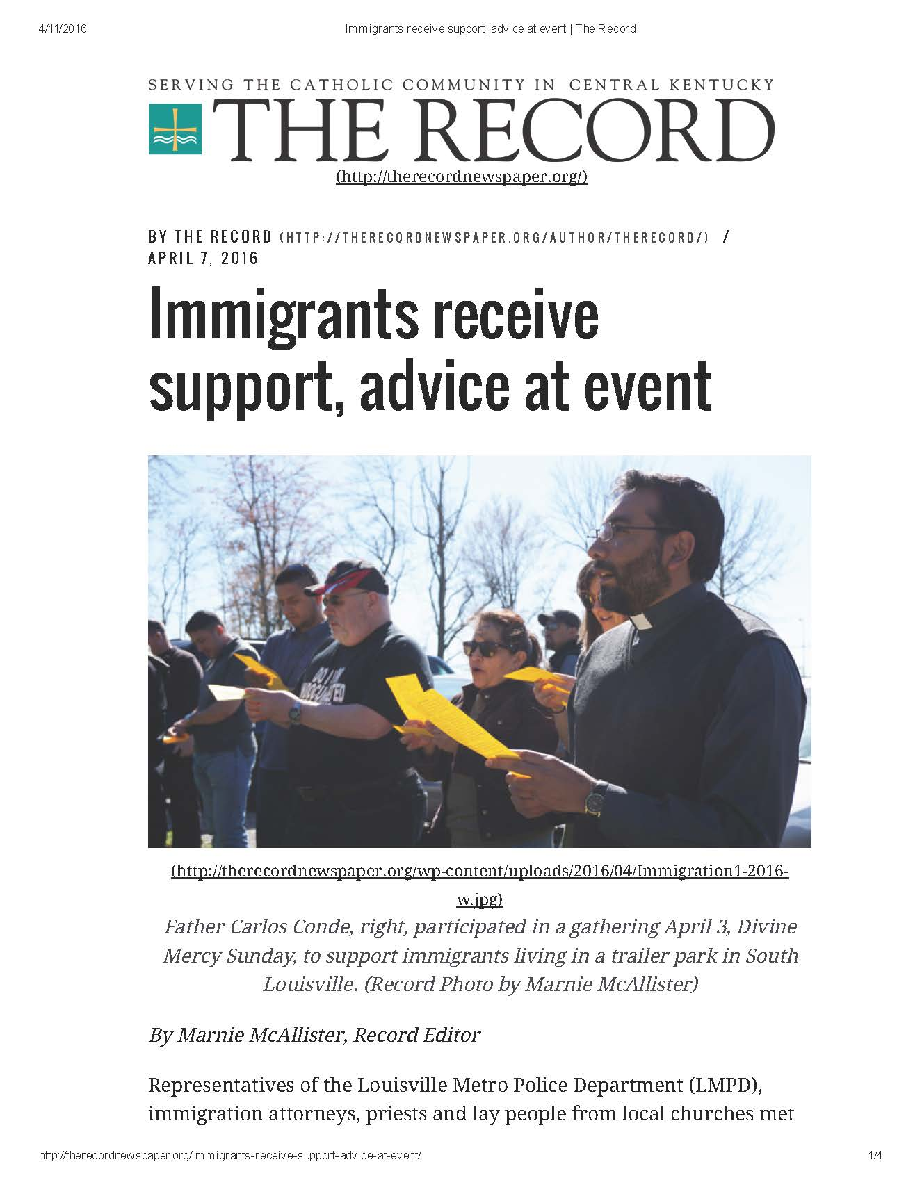 2016.04.07.Immigrants receive support, advice at event _ The Record_Page_1.jpg