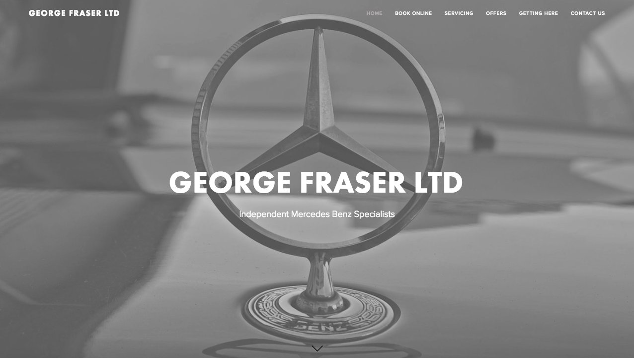 WEB DESIGN:  A beautiful, clean and modern, scrolling website design for a luxury vehicle brand.