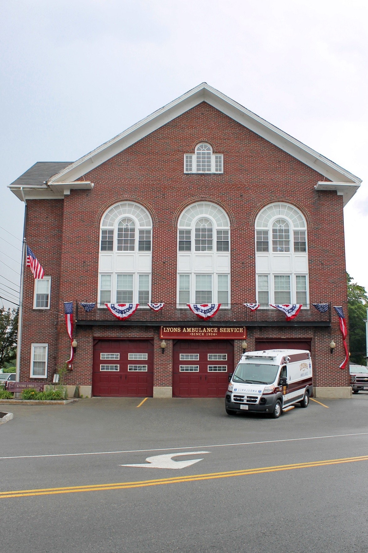 Lyons Ambulance Service headquartered in historic fire station in Danvers, MA