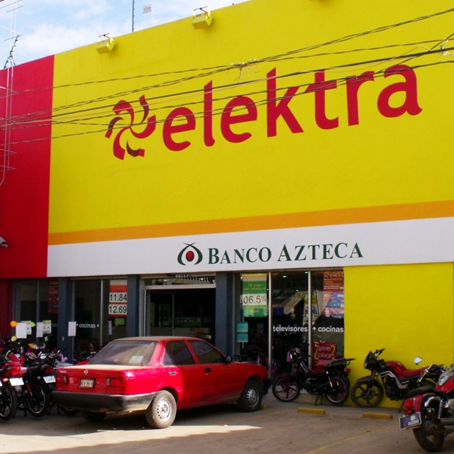 "Grupo Elektra and Banco Azteca, a ""retailer"" bank."