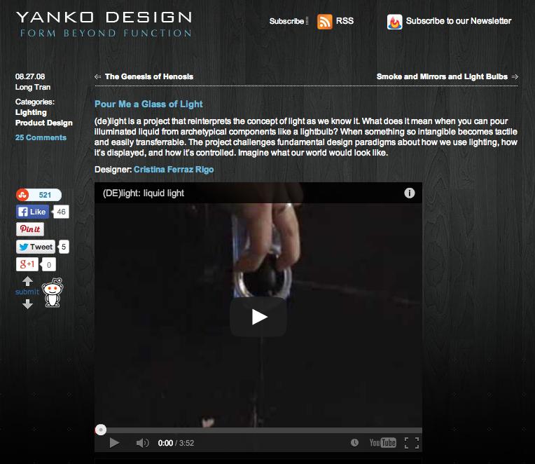 (DE)light in Yanko Design
