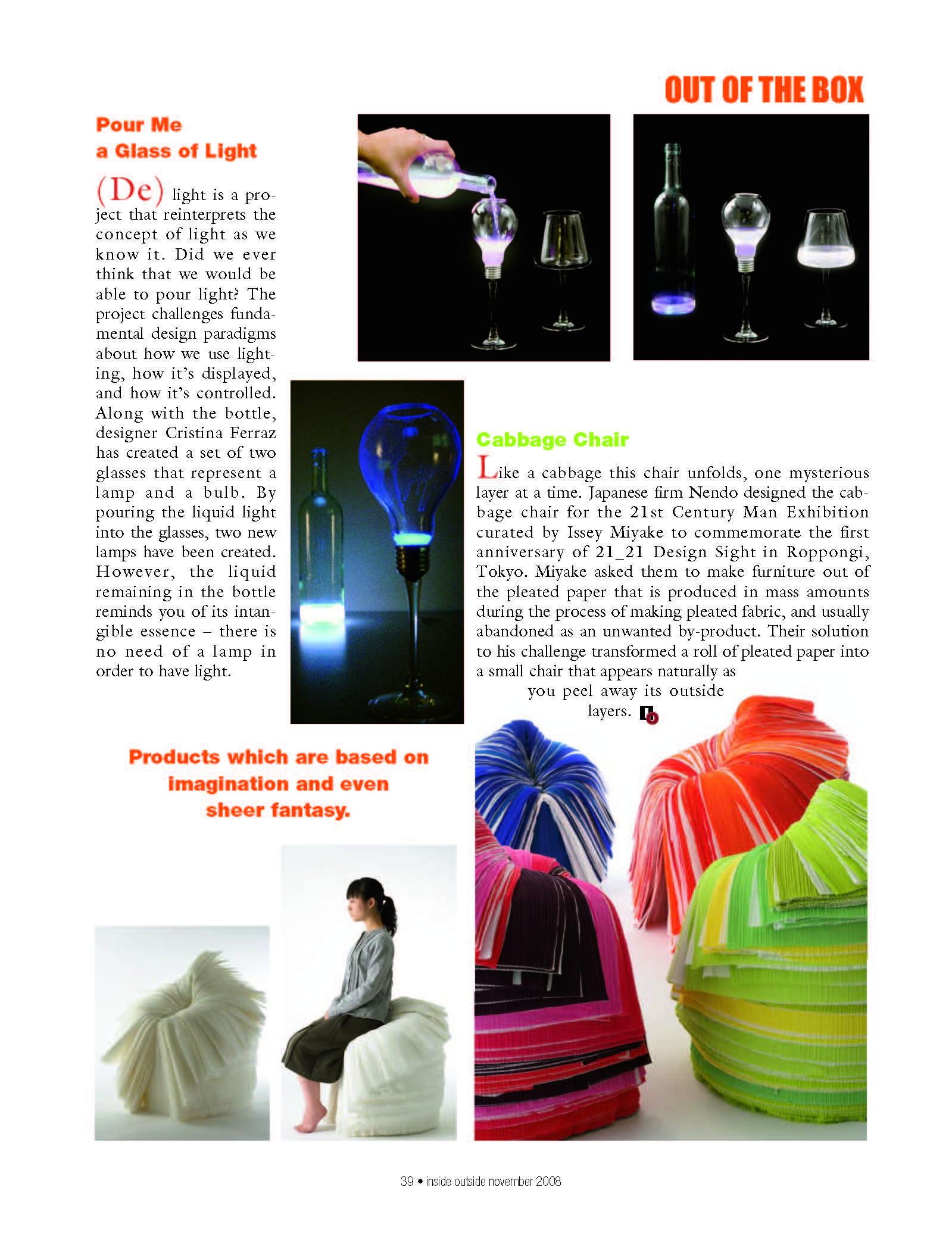 (DE)light in Inside Outside Magazine