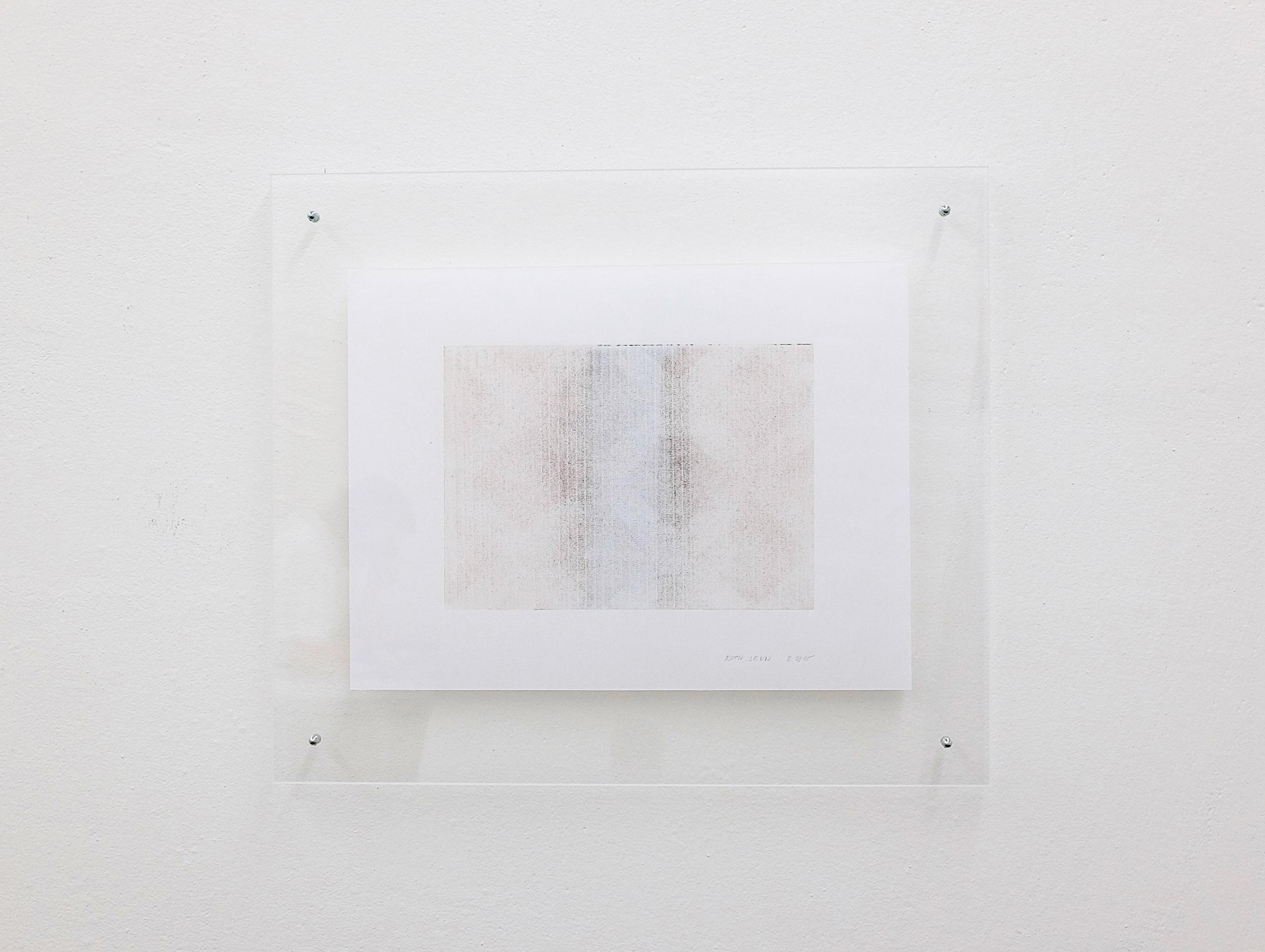 monotypie nr. 09/2015- 15x 21cm - öl auf japanpapier in acrylglasrahmen
