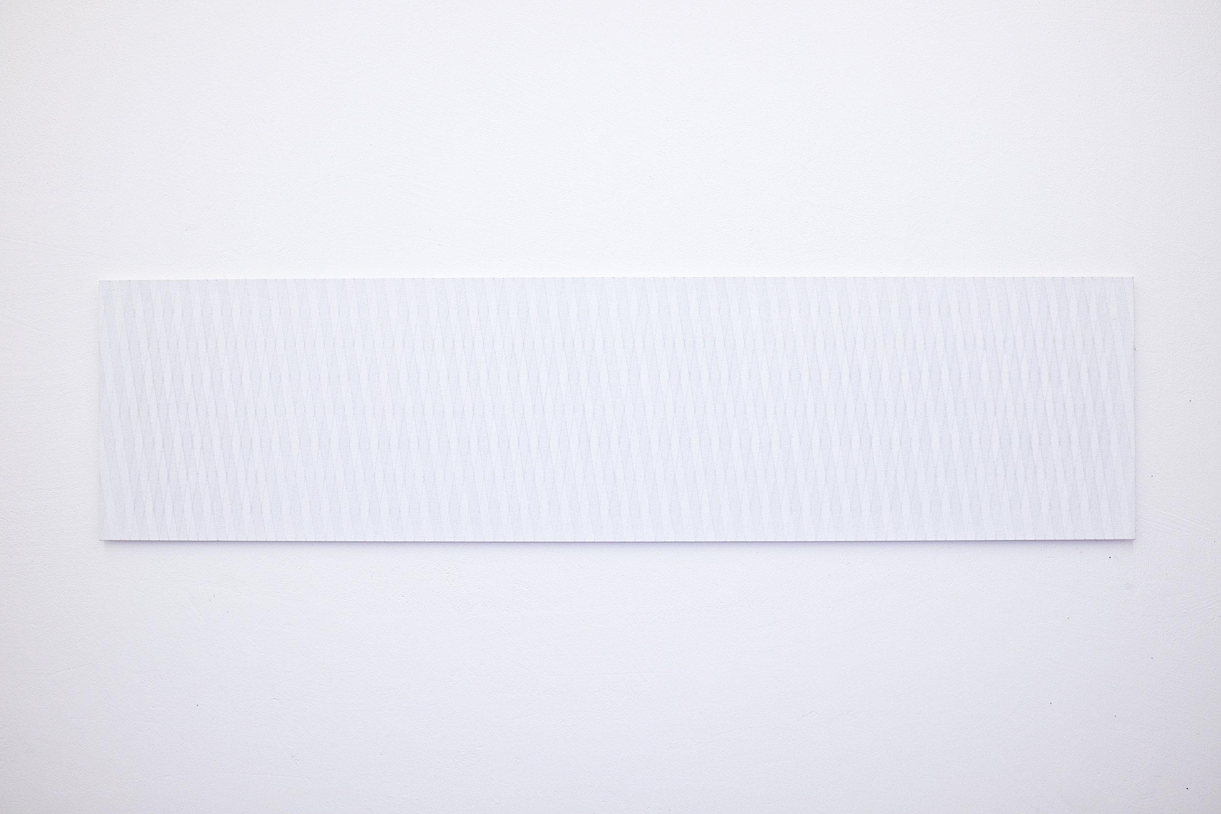 bild nr. 10/2014 - 50 x 200cm - acryl auf baumwolle/alu