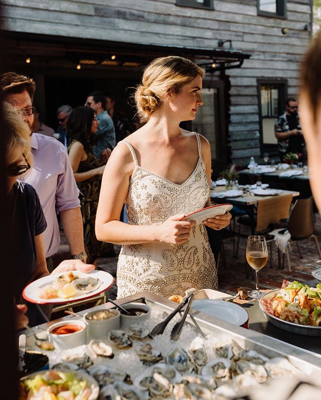 Never not in line for food. Or rosé. #tbt ♥️ . 📸: @elizabethervin #leonsoystershop #rosé #charlestonsc #eatercharleston #hungrysocial #family #love #happy #travel #foodandwine #eater #eeeeeats #martini #eaterchicago #socialmedia #infatuation #wine #gin #infatuationchi #happyhour #devourpower #vacation #foodporn #tgit #wedding #karasgettinglarried #wedding #oysters #friedchicken #charleston