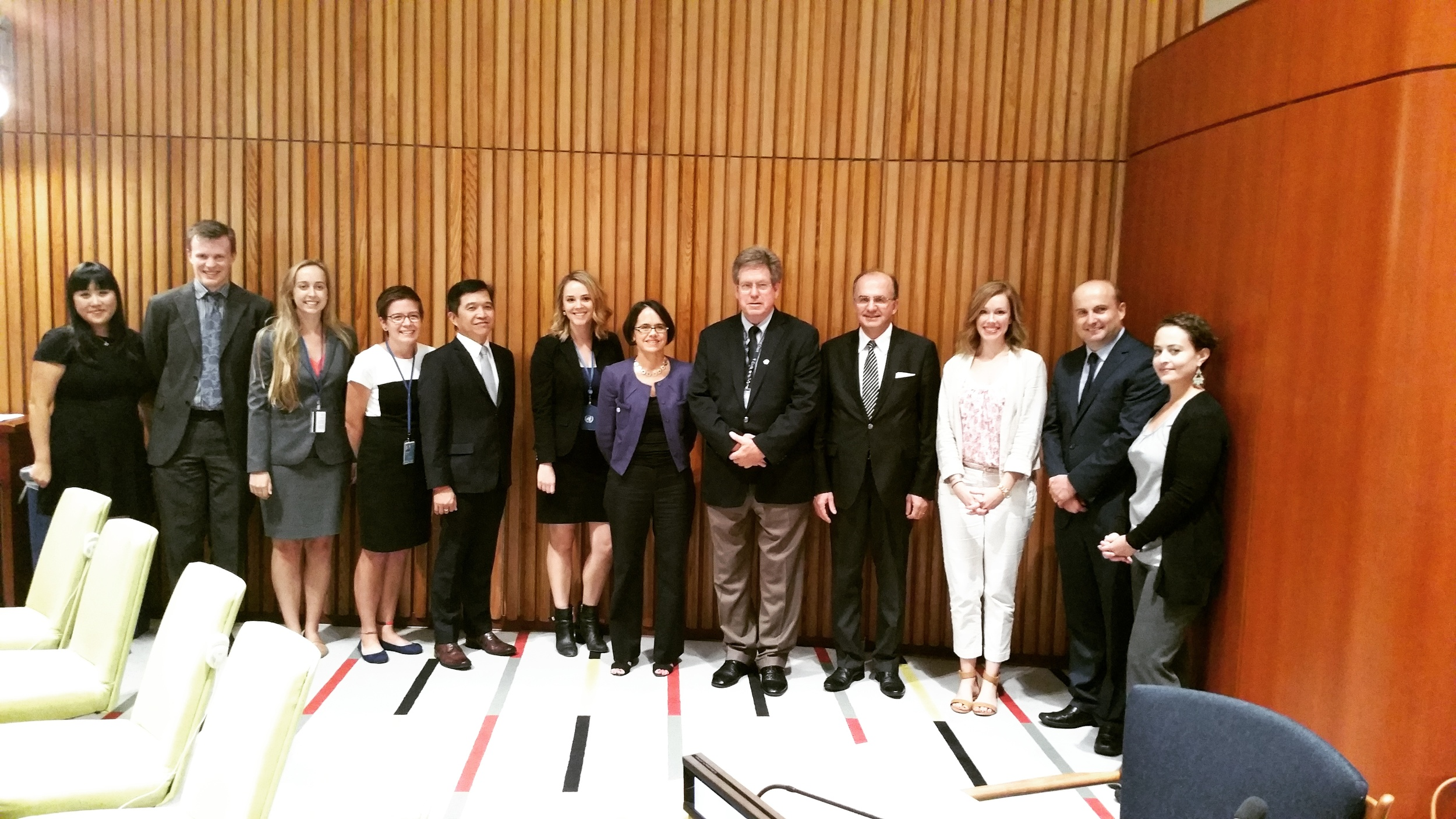 ICRtoP and civil society representatives with Dr. Jennifer Welsh