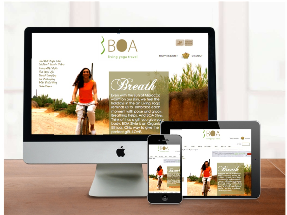 BOA Style - Sustainable Fashion company hired me to rebrand their fair trade, Moroccan-based ecommerce business.