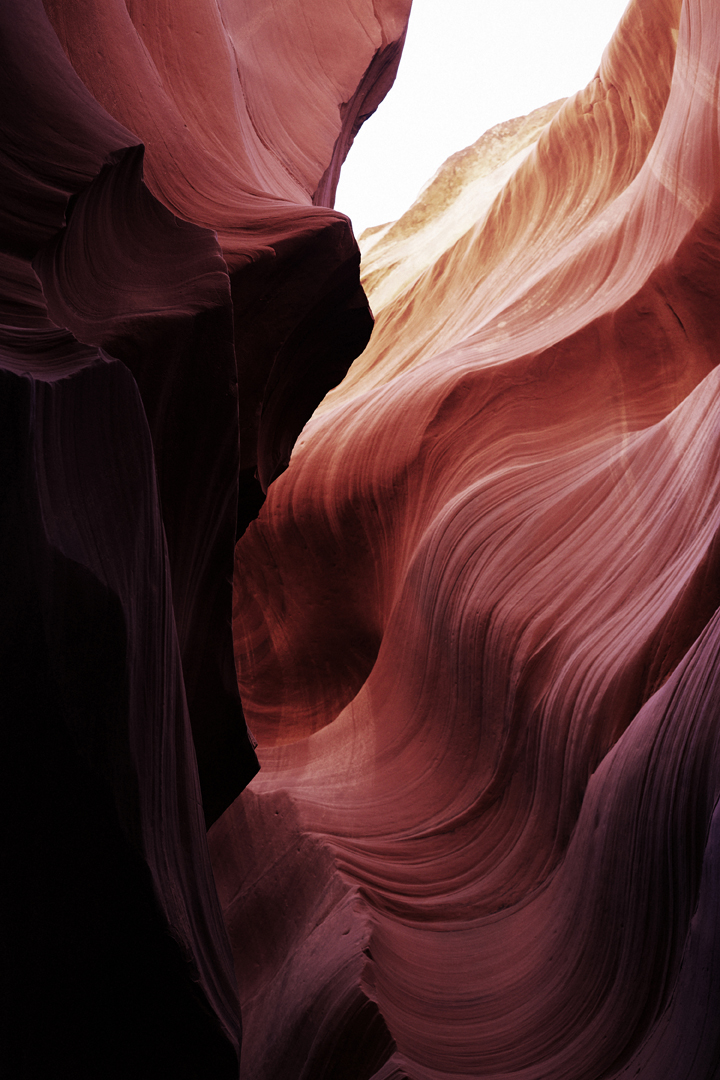"Antelope Canyon II   2014   C-Print mounted on plexi   24"" x 16"""