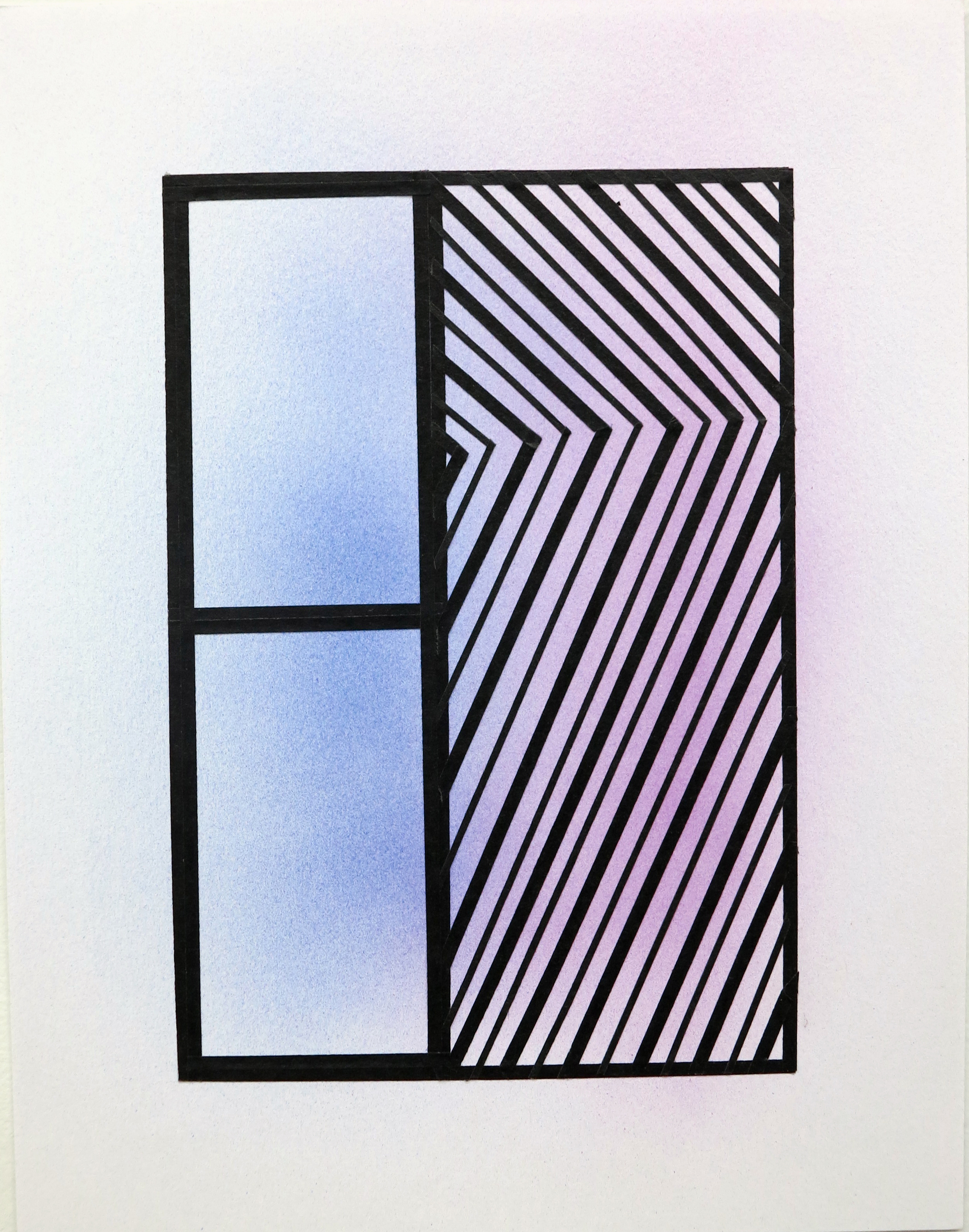 Untitled (Window 7)      2013       Acrylic and Tape on Paper      Framed dimensions 13 ¼ x 10 ¾ in.