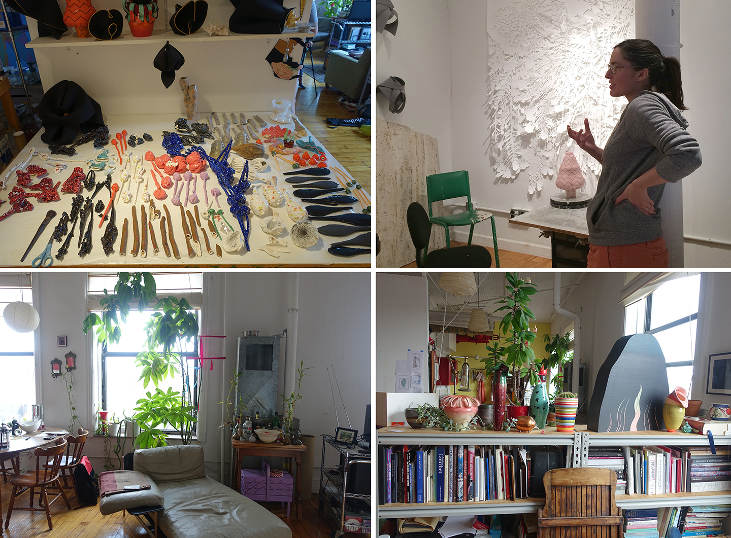 Shots from the artist's live and work space in Brooklyn, New York. All images are copyrighted