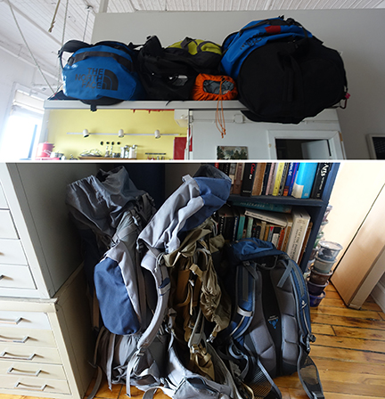 Jolynn and Halsey's backpacking gears
