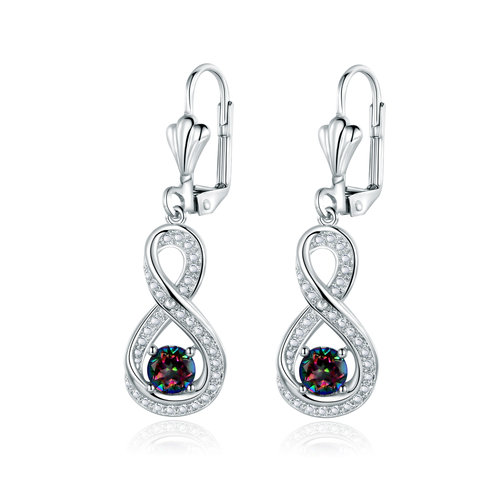 Mystic Topaz Diamond Accent Infinity Drop Earrings Er5078 Jpg