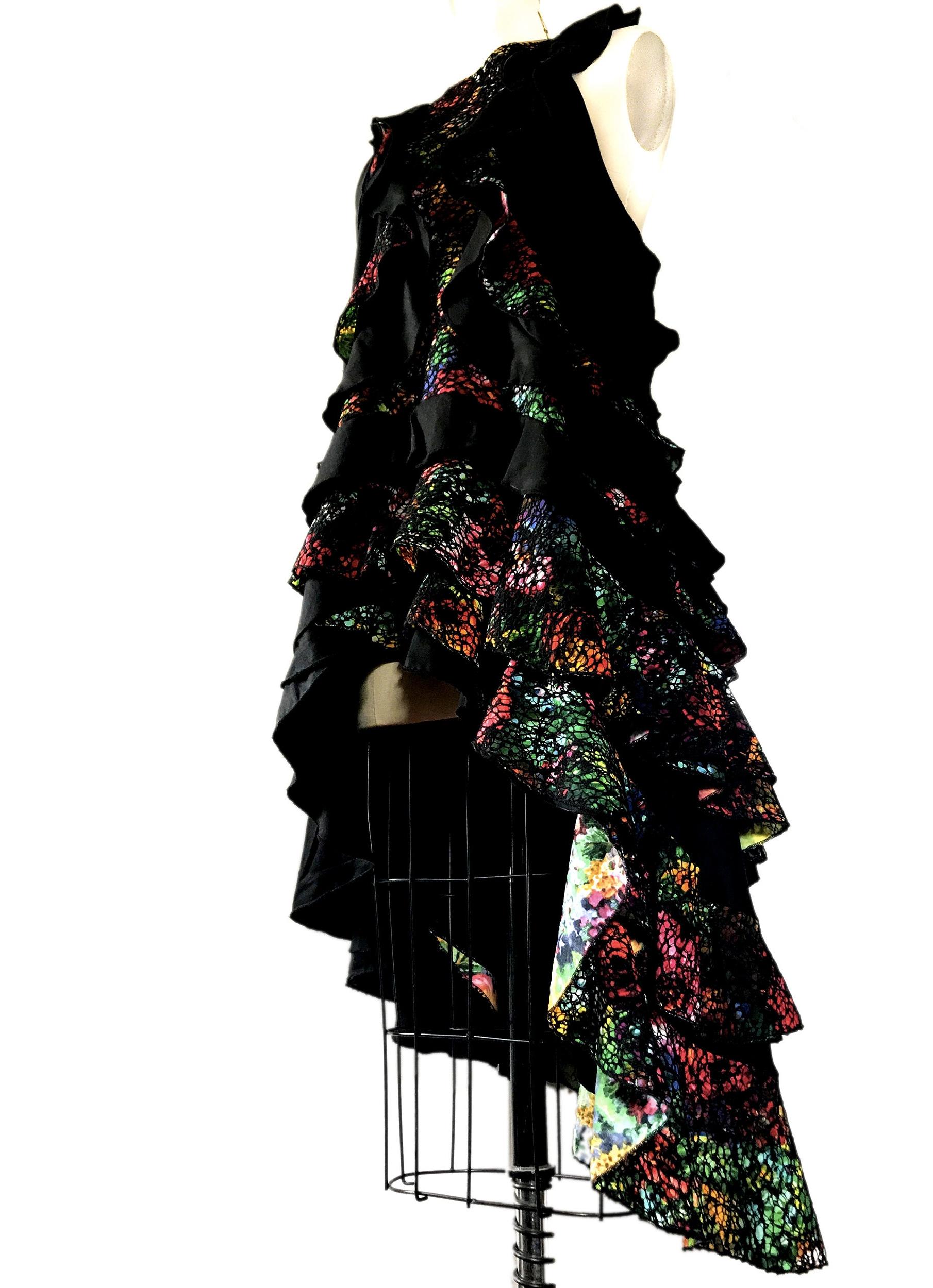 floral embroidered lace designer dress
