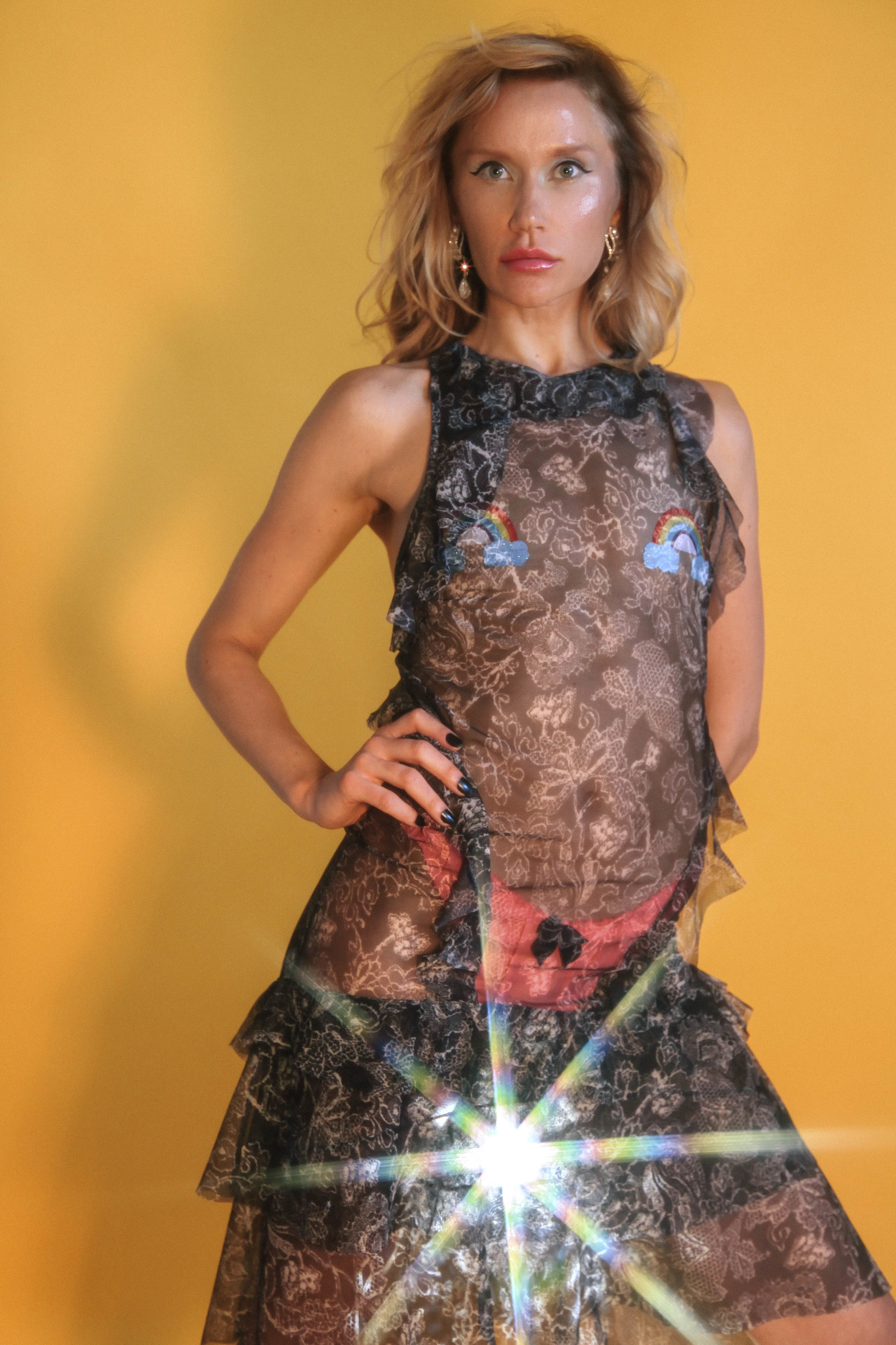 sheer dress by EVVOOSHKA fourtwentydress