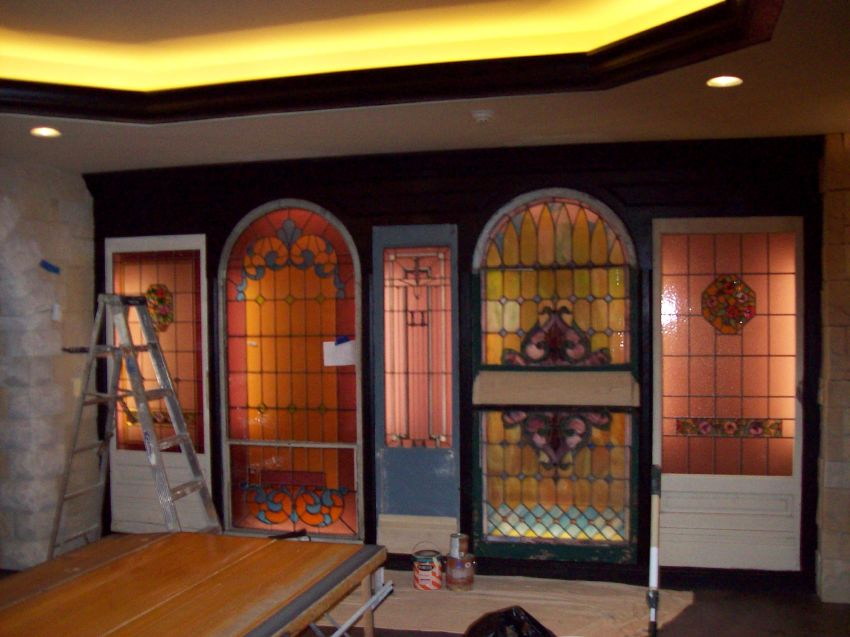 painted trim on stained glass wall.jpg