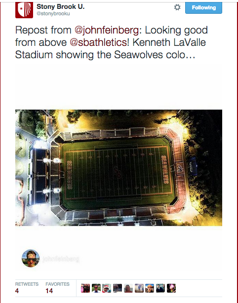 SBU Twitter Mention:Retweet of Football Field.png