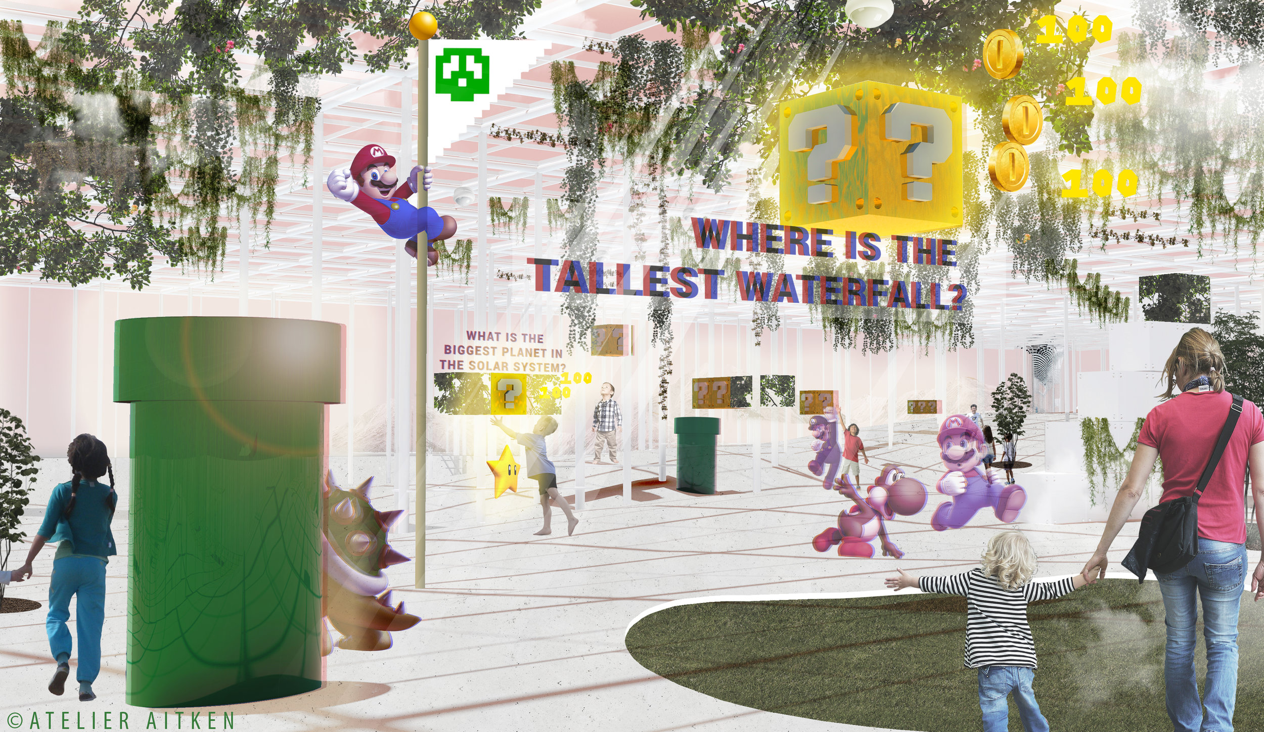 Learning through Gaming: This mixed reality playscape is how we imagine children could be learning at the school of the future.