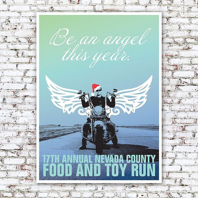 FOOD & TOY RUN PROMOTIONS – Bikers helping kids. This pro bono project helps to bring happiness to many deserving children each year. The posters were designed to build awareness and recruit bikers throughout Nevada County, CA to bring unwrapped gifts to the rally. The campaign also included ads, t-shirts and buttons. – #ostrodesign #graphicdesign #branddesign #posterdesign #design #designer #visualidentity #visualidentitydesign #happiness #joy
